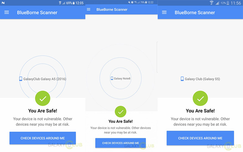 Samsung Galaxy update BlueBorne Android