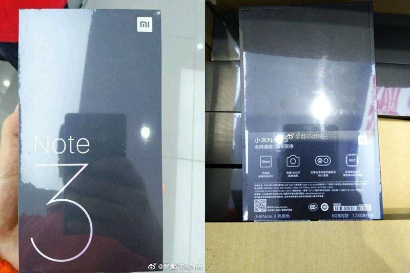 Xiaomi Mi Note 3 smartphone Android Xiaomi Mi Mix 2