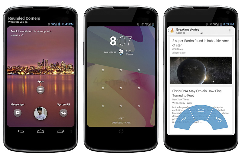 Cantos Arredondados Android smartphone Google Play Store