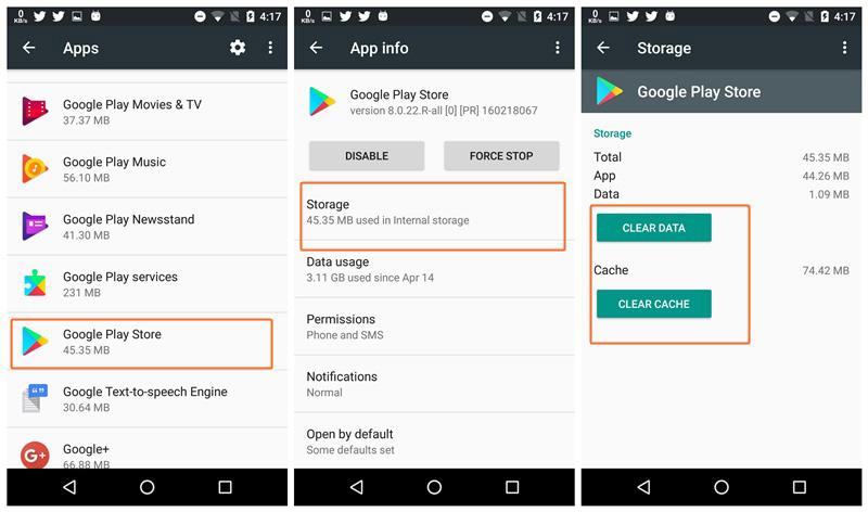 Google Play Store Erro de Conexão