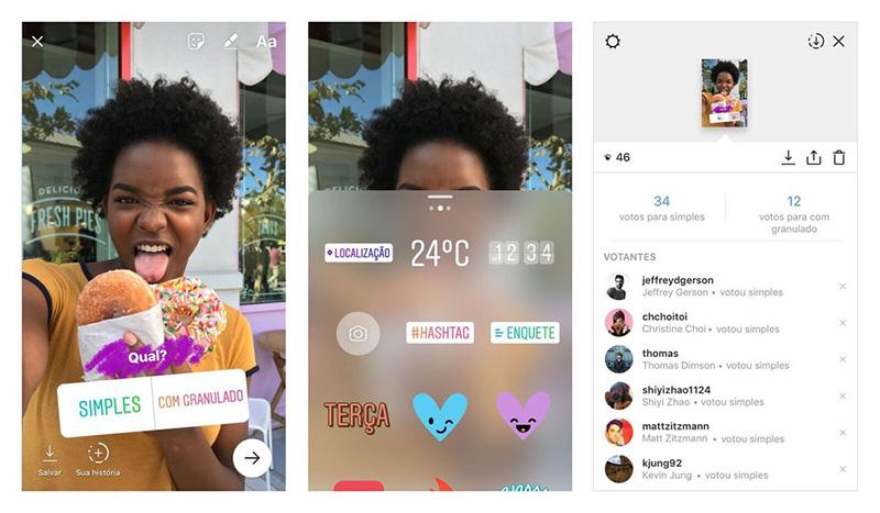 Instagram Votação Votações Votações no Instagram