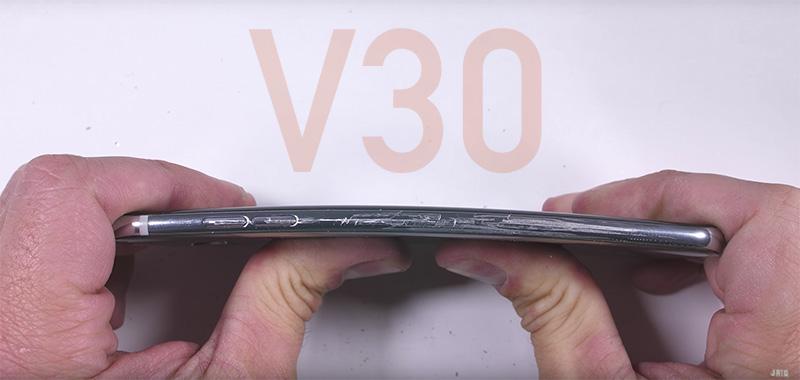LG V30 Teste de Resistência