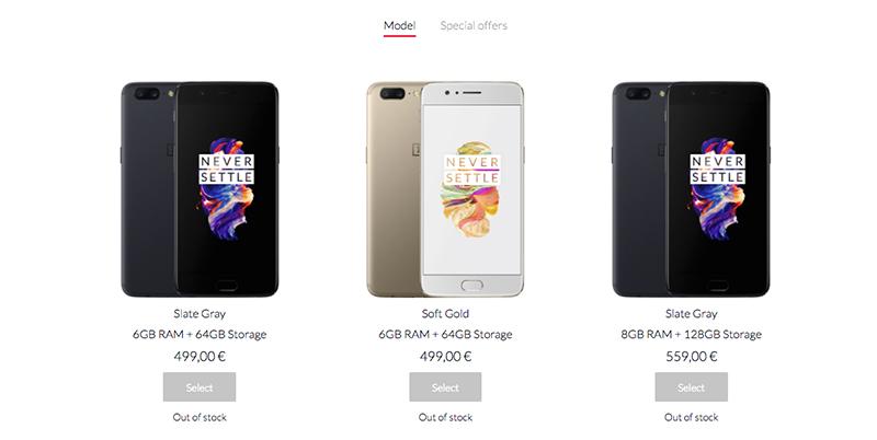 compra OnePlus 5