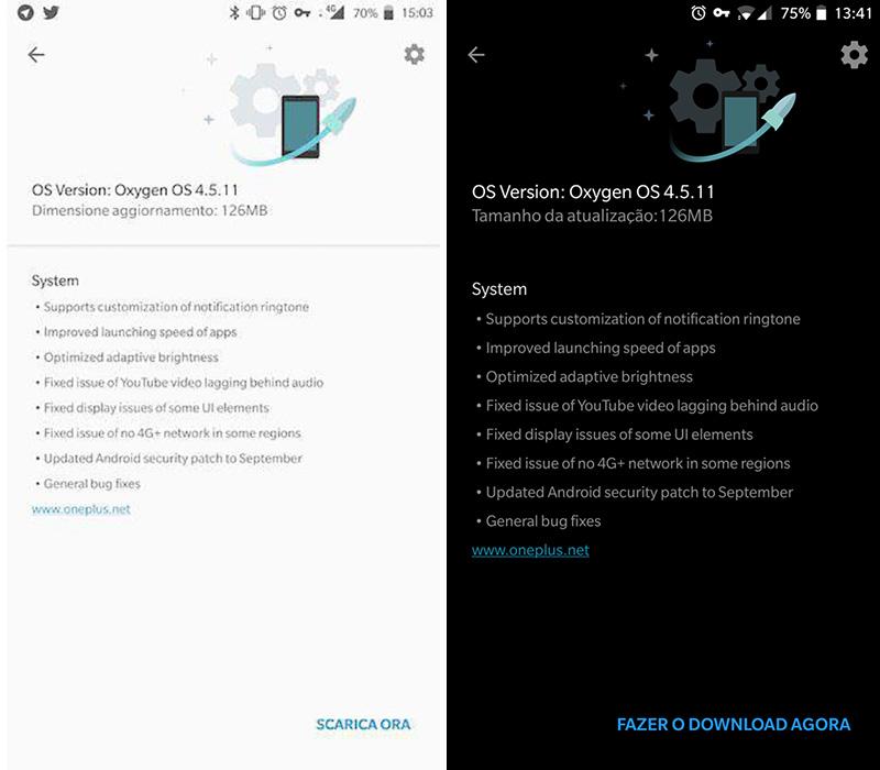 OxygenOS 4.5.11 OnePlus 5
