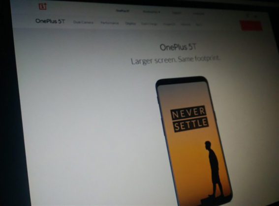 OnePlus 5T site oficial