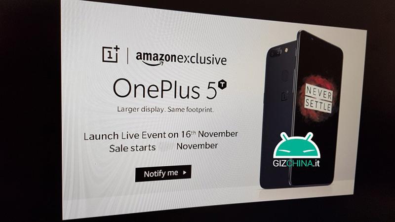 OnePlus 5T Amazon 16 de novembro