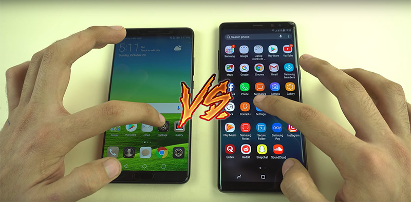 Samsung Galaxy Note 8 Huawei Mate 10