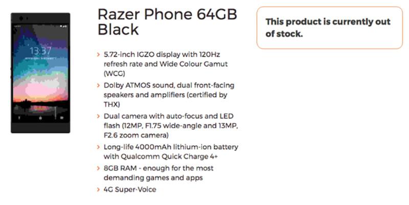 Razer Phone Smartphone besta