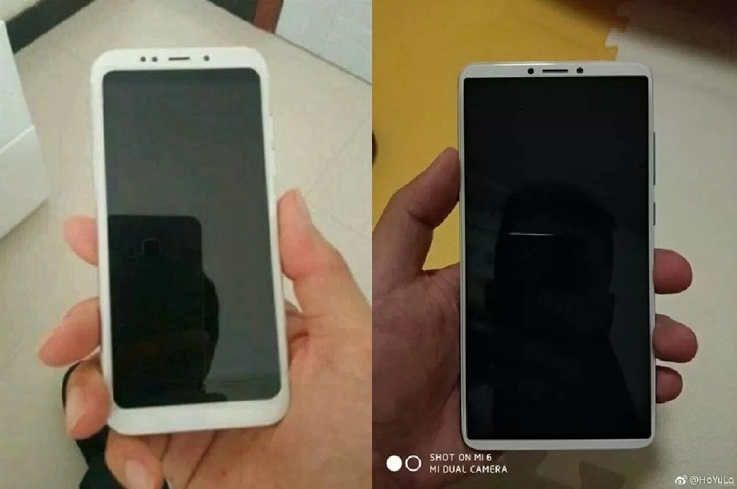 Xiaomi Redmi 5 (à esquerda) e Redmi Note 5 (à direita)