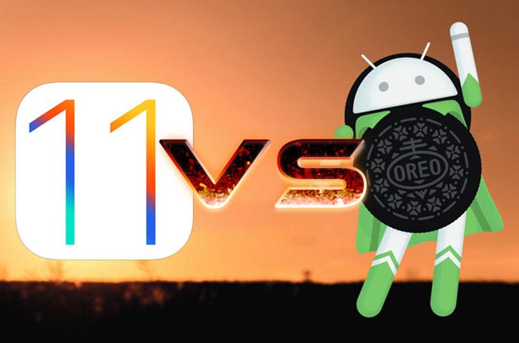 iOS 11 iOS 10 Android Oreo