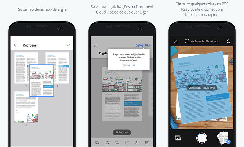 Adobe Scan Sensei inteligência artificial Google Play Store