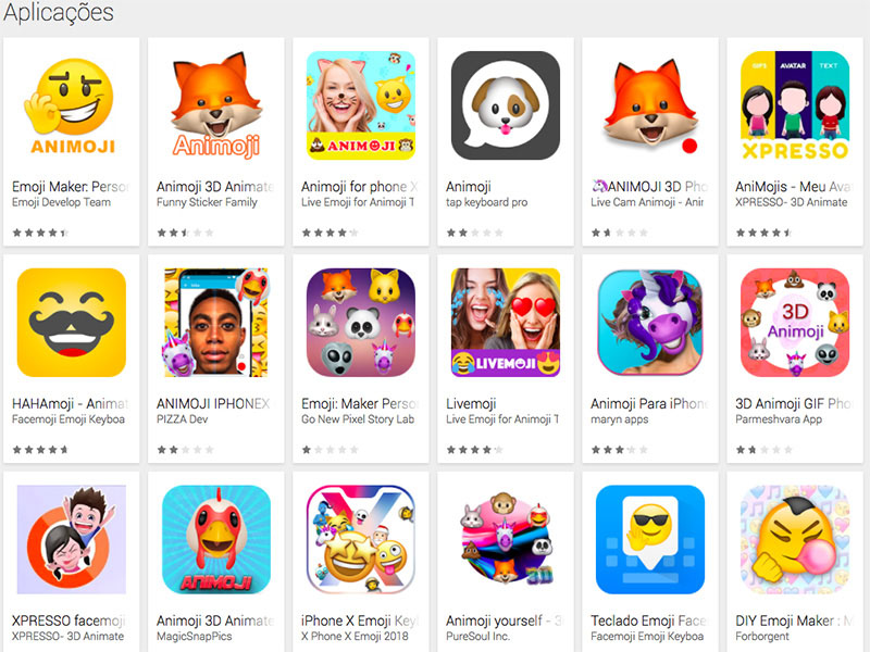 Animojis Google Play Store Android