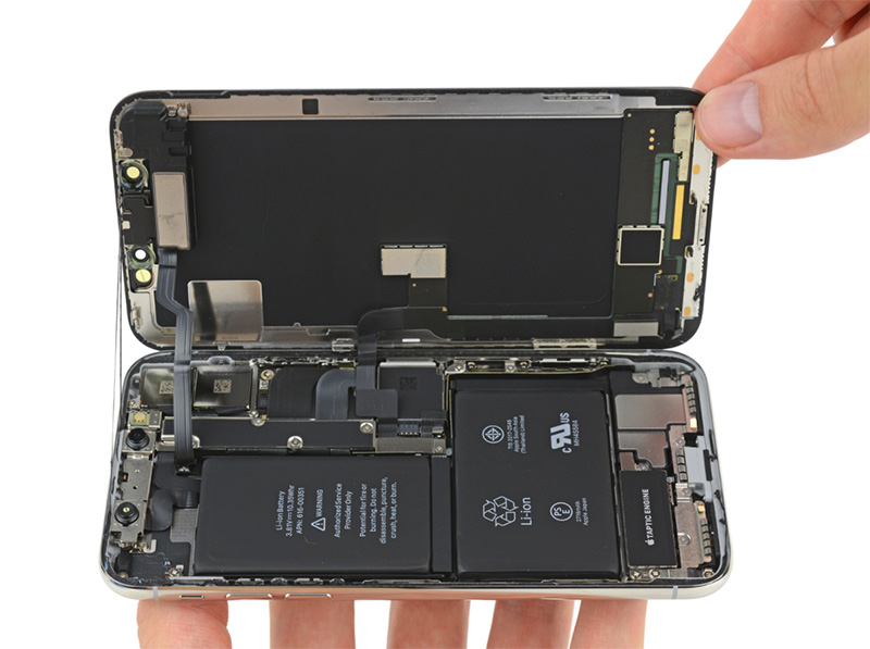 Apple iPhone X iFixit abrandamento intencional oficial iPhone Apple