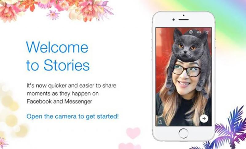 Facebook Messenger Histórias