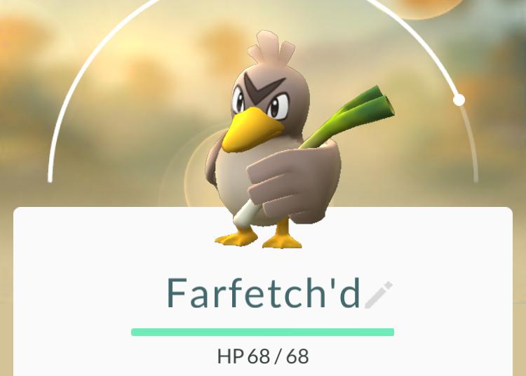 Pokémon GO Travel Niantic Farfetch'd Global Catch Challenge