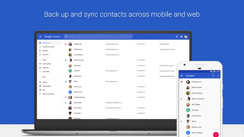 Google Contacts Google Contactos Android atualização