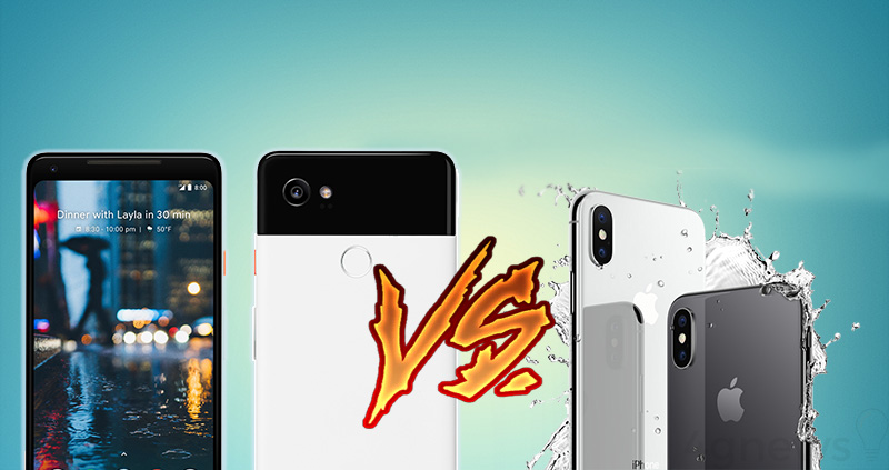 Google Pixel 2 XL Apple iPhone X smartphone