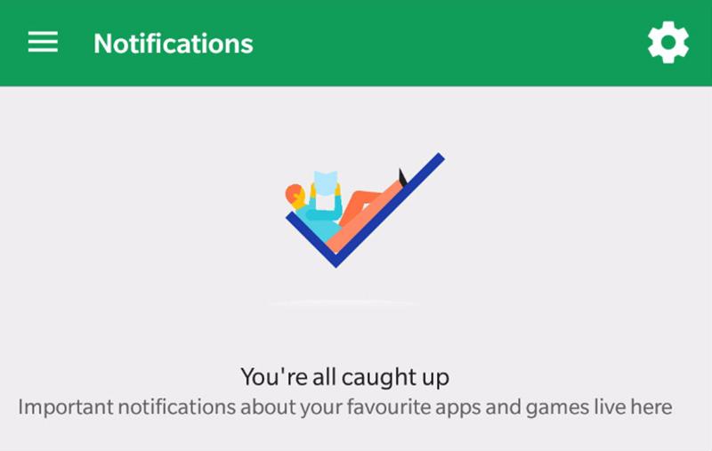 Google Play Store notificações 4 Notificações