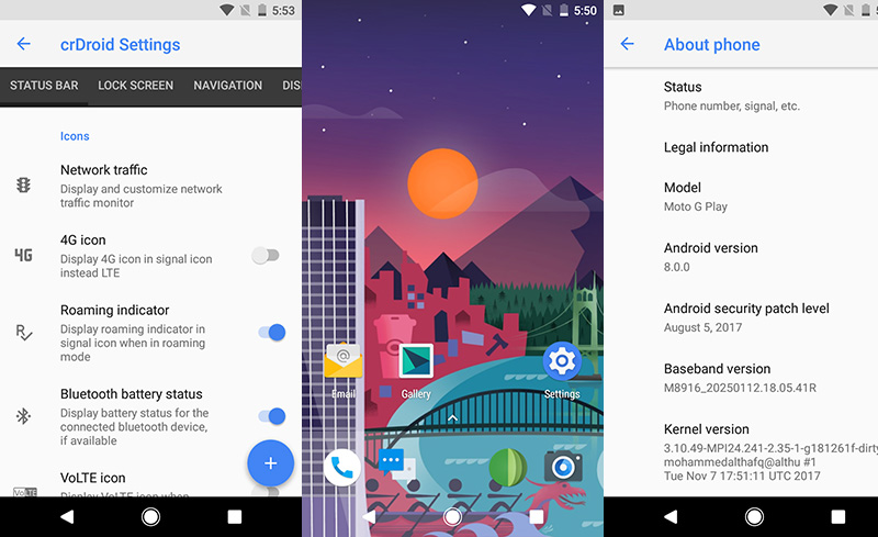 Motorola Moto G4 Play Android Oreo