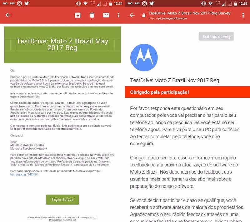 Motorola Moto Z Android Oreo