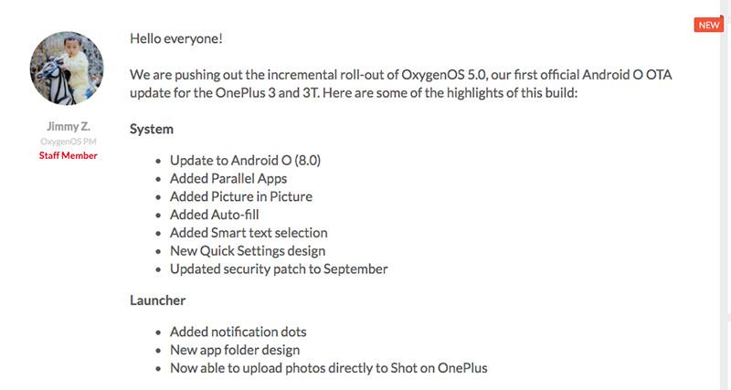 OnePlus 3T OnePlus 3 OxygenOS Android Oreo