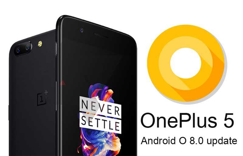 Android Oreo Beta versão OnePlus 5