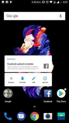 OnePlus 5 Android Oreo Face ID 1