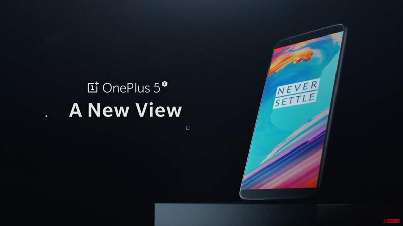 OnePlus 5T novo smartphone
