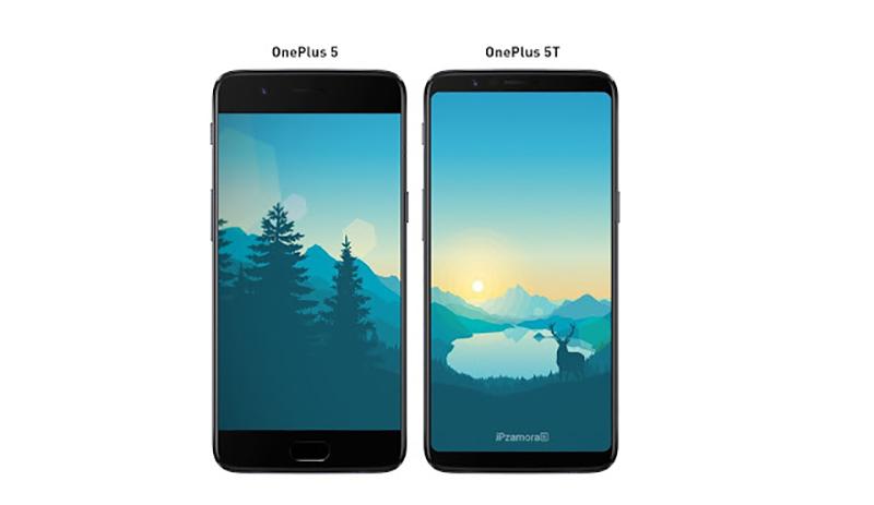 OnePlus 5T OnePlus 5 1 ecrã imagem