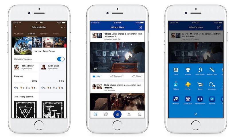 App PlayStation para smartphone está agora mais focada no social