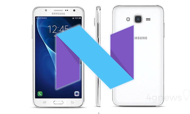 Samsung Galaxy J7 2015 Android Nougat