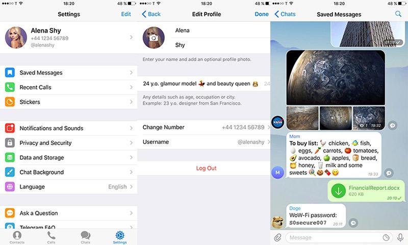 Telegram iOS Andoid novidades