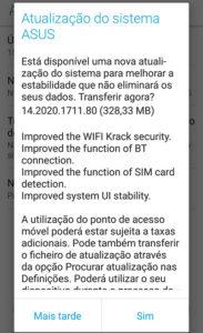 ASUS Zenfone 3 atualização Android