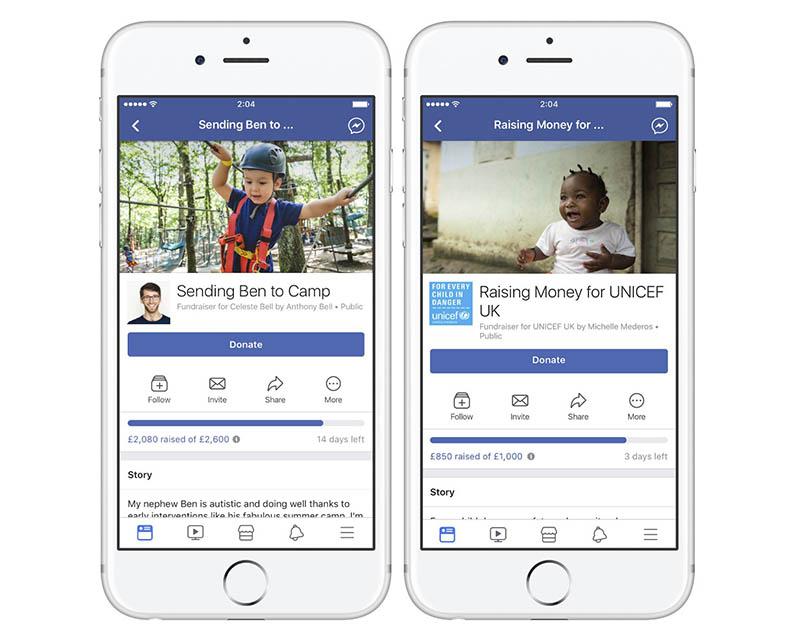 Facebook ajuda donativos ajudar