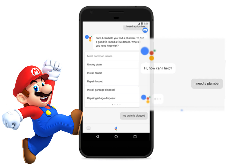 Google Assistant Canalizador