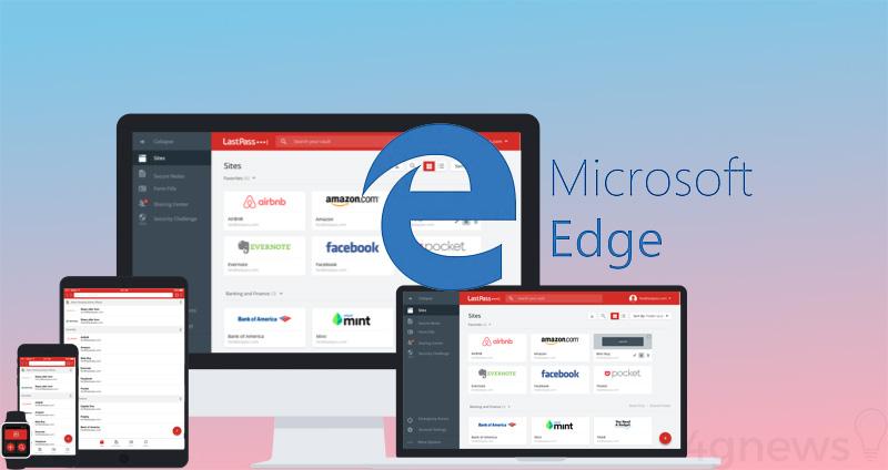 Microsoft Edge LastPass aplicação Android