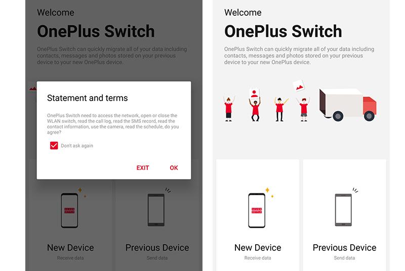 OnePlus Switch aplicação Google Play Store