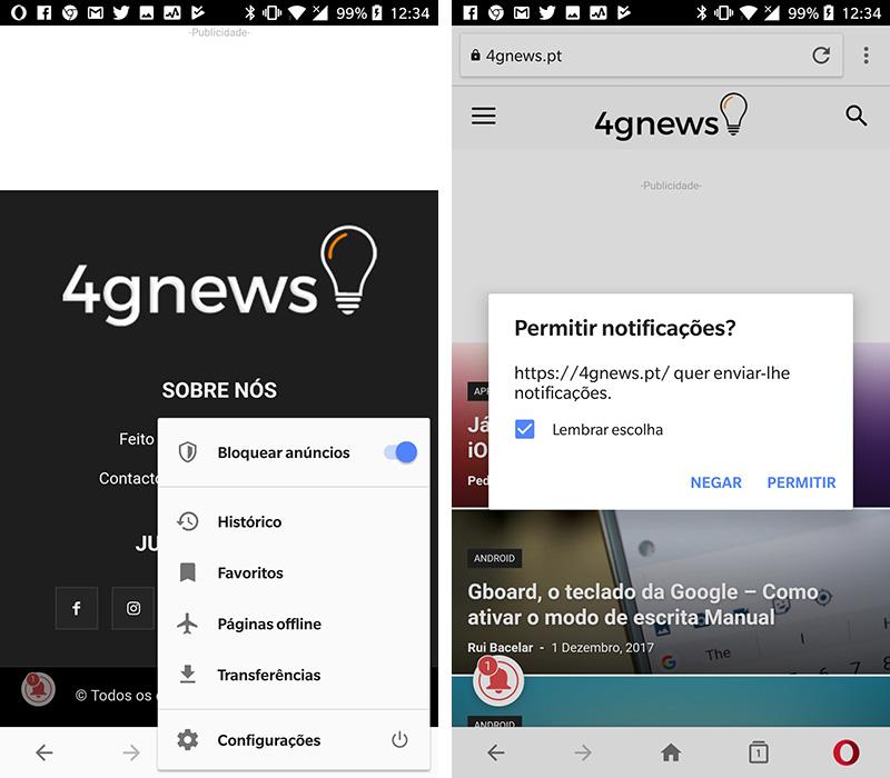Opera para Android nova cara