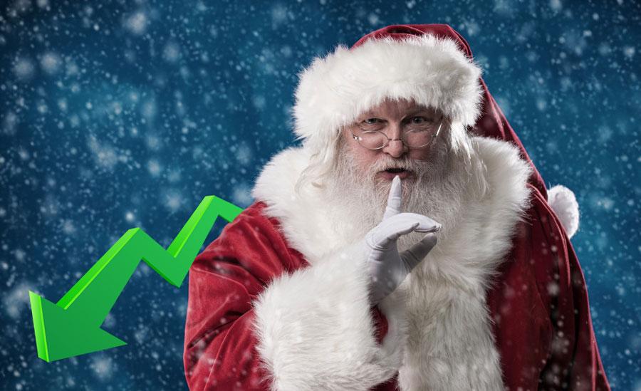Criptomoedas sofrem fortes quedas... A culpa pode ser do Natal!