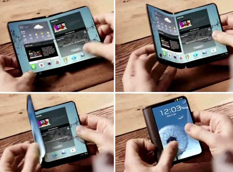 ecrã OLED smartphone dobrável Samsung Galaxy X smartphone