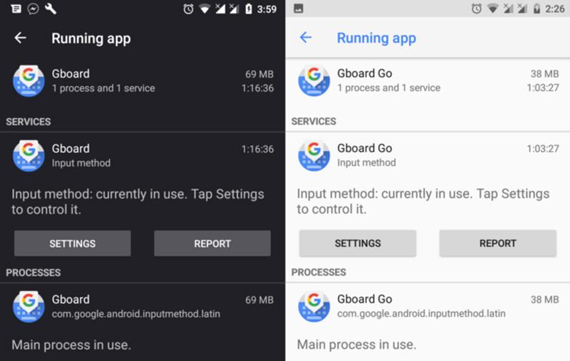 Android Oreo 8.1 Google Gboard Go