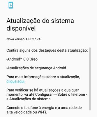 Android Oreo Motorola Moto Z2 Play