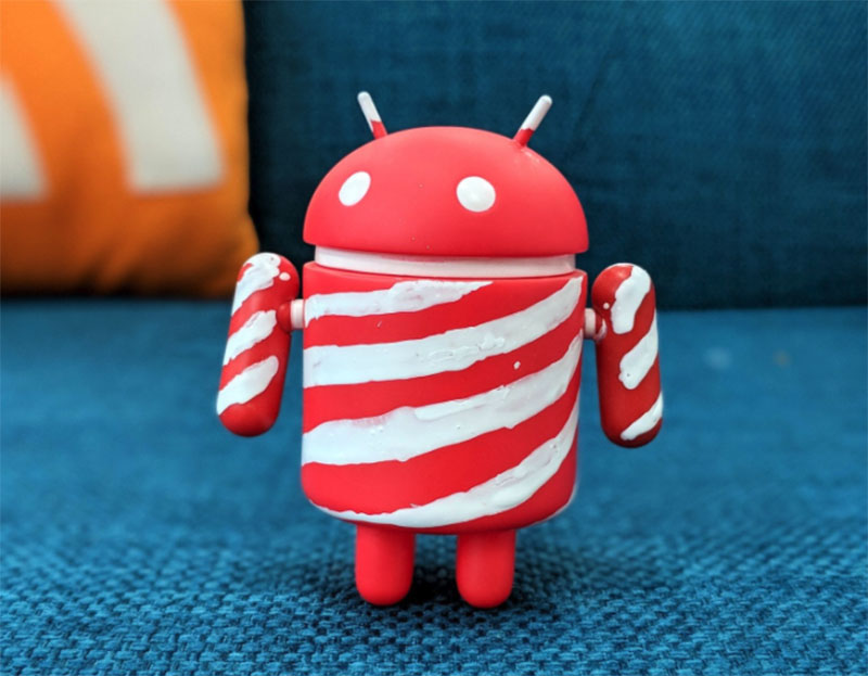 Android P Android Peppermint doce próximo do