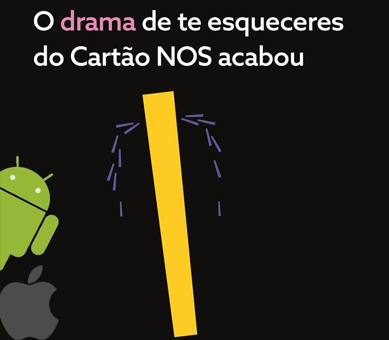Cartão NOS digital Android iOS smartphone