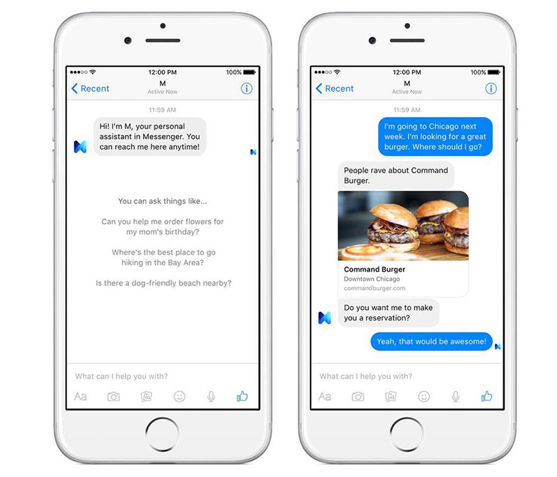 Facebook Messenger M assistente virtual