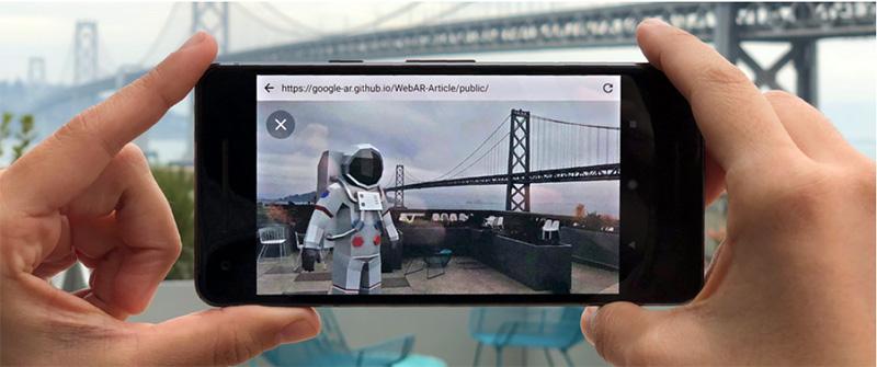 Google Chrome Realidade Aumentada