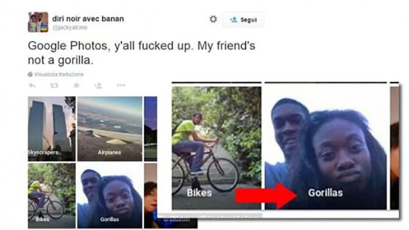 Google Fotos Gorilas problema IA