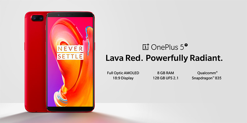 Amazon OnePlus 5T Lava Red Android Oreo