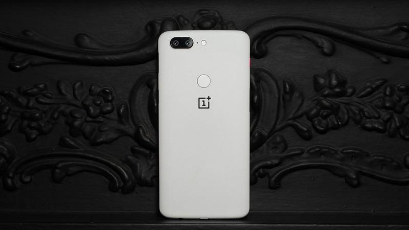 OnePlus 5T SandStone White OxygenOS Android Oreo