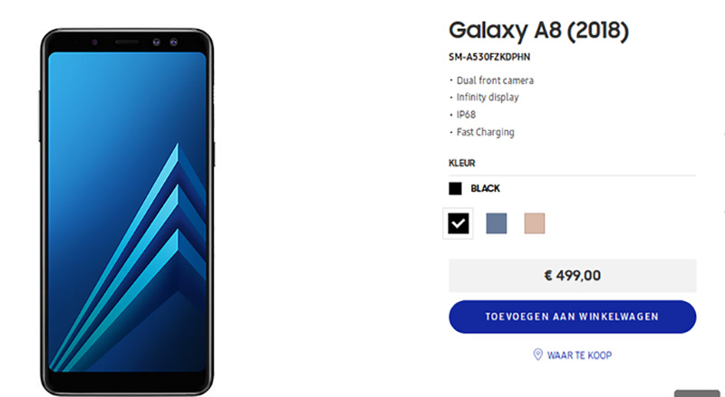 Samsung Galaxy A8 2018 Android Europa